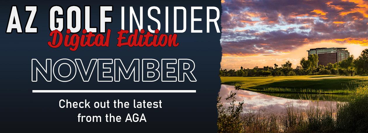 website slider advertising AZ Golf Insider November with picture of talking stick resort