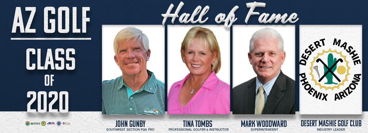 AZ Golf Hall of Fame website slider with Class of 2020 headshots
