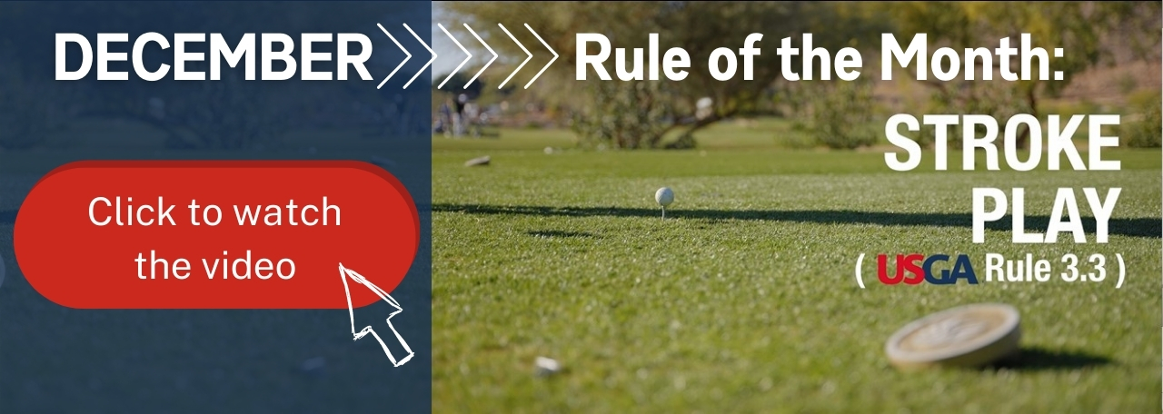 Thumbnail for the December 2020 USGA Rule of the Month video