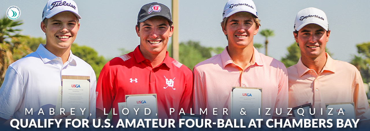 four qualify for US Amateur four-ball at chambers bay and hold their medals / placques