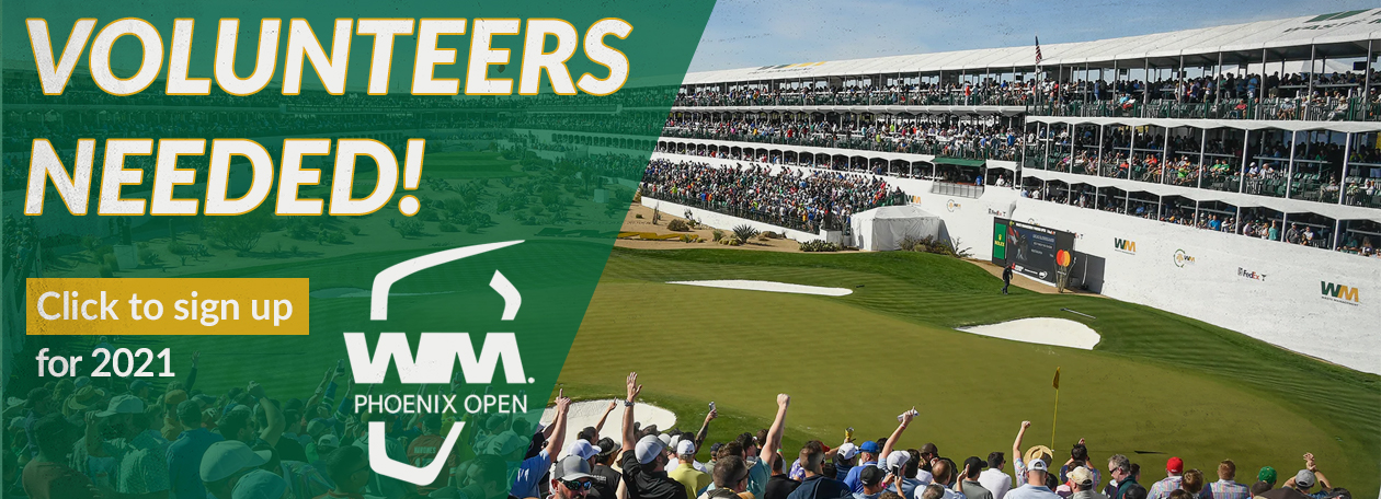 Click here to sign up to volunteer at the 2021 Waste Management Phoenix open